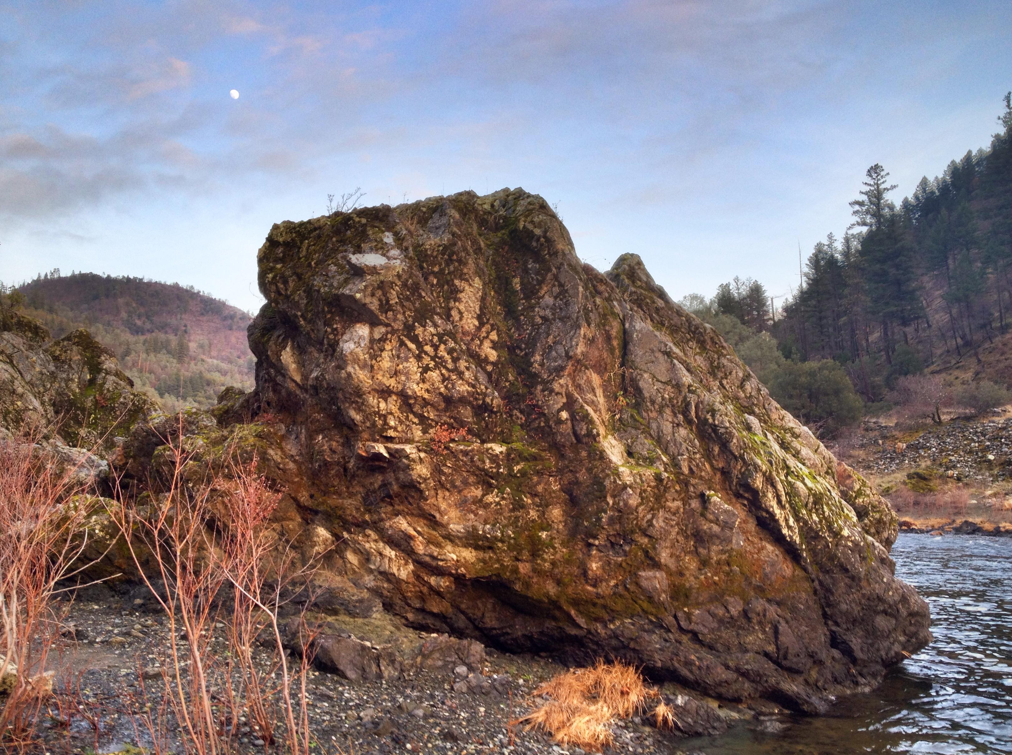 A rock in Big Flat, CA. Photo by Clay Duda.