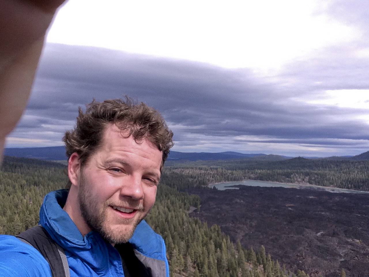 Clay Duda on top of Cinder Cone.