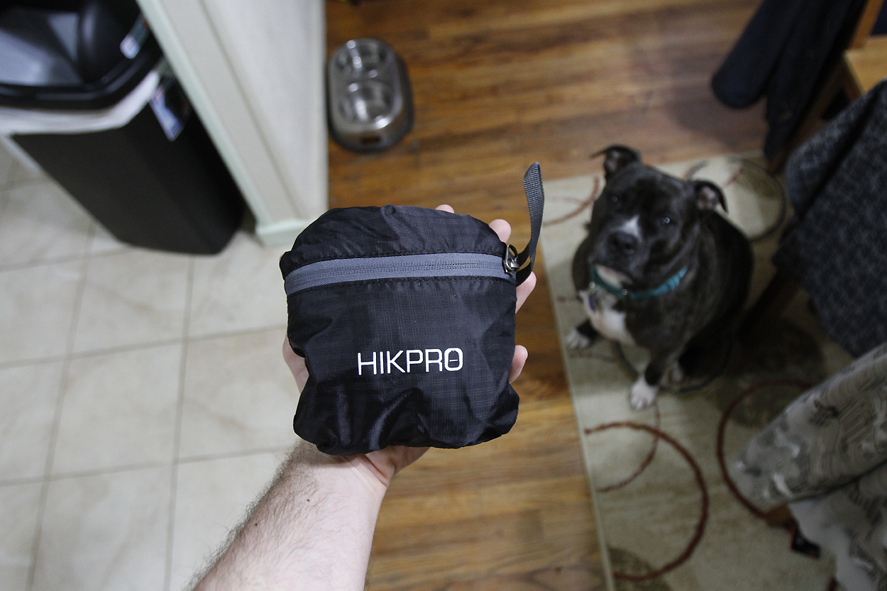 Compact Hikpro daypack. Photo by Clay Duda.