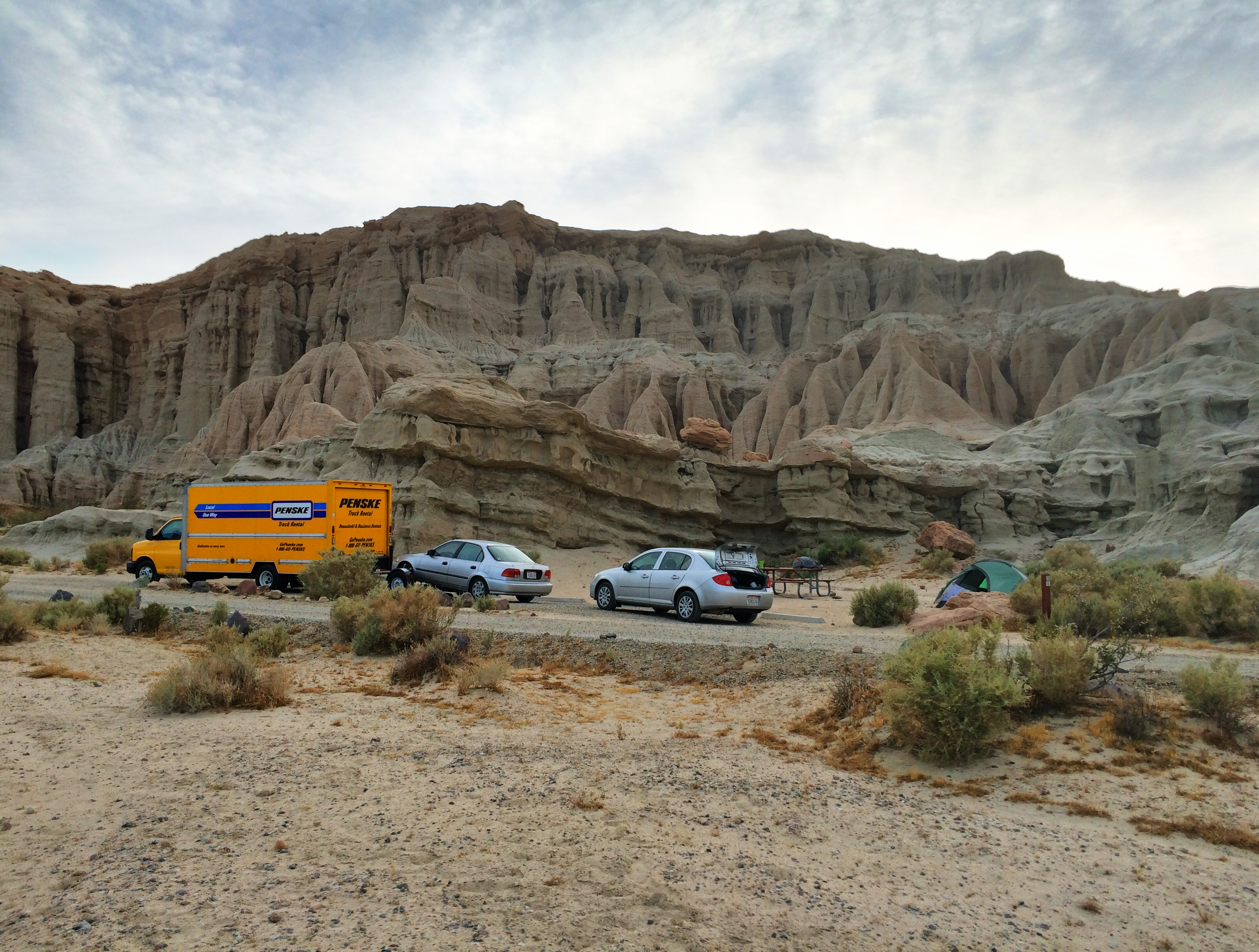 Ricardo Campgrounds at Red Rock Canyon State Park in Cantil, CA. Photo by Clay Duda.