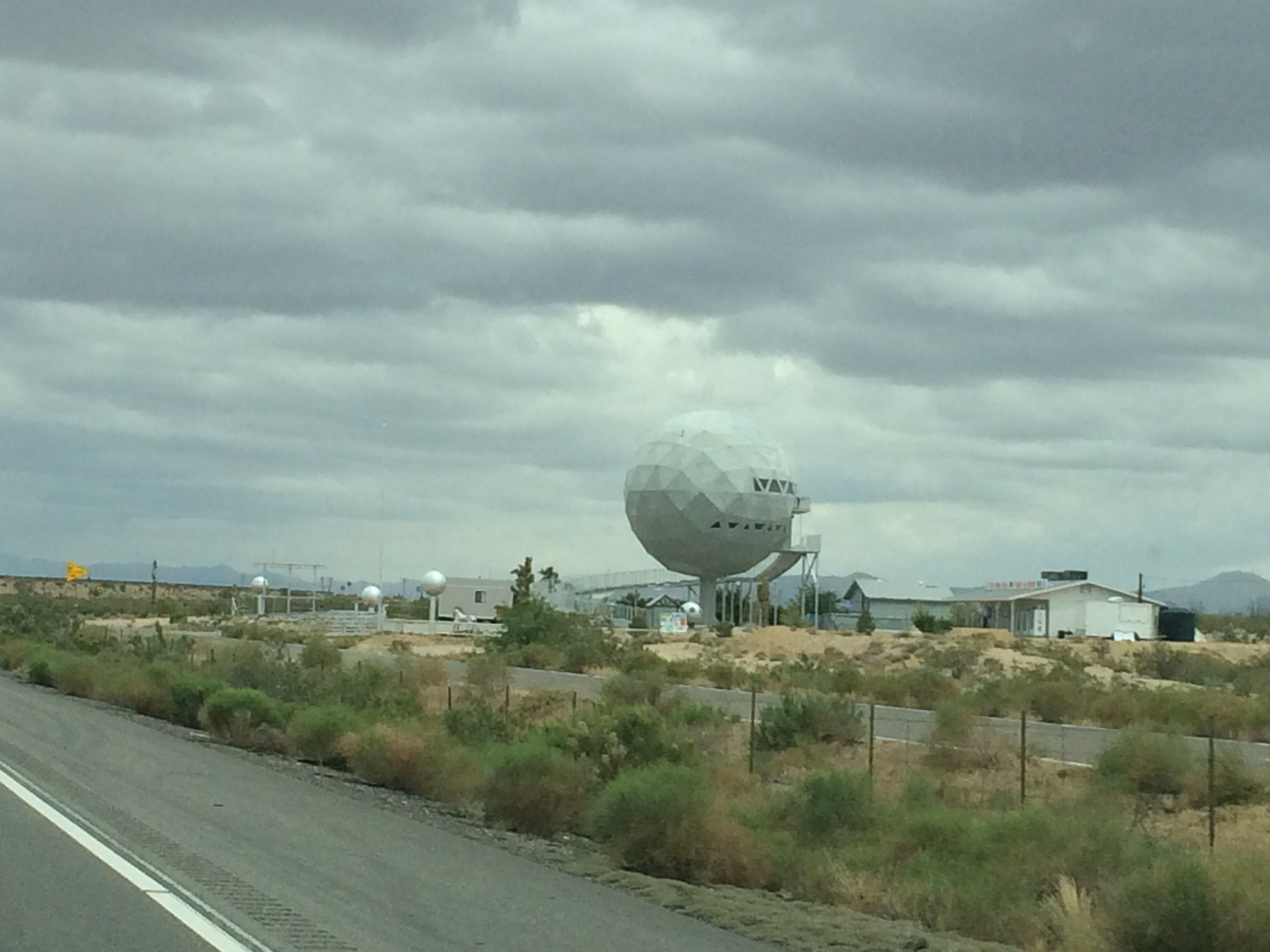 The world's largest golf ball -- or something like that -- in Arizona. Photo by Clay Duda.