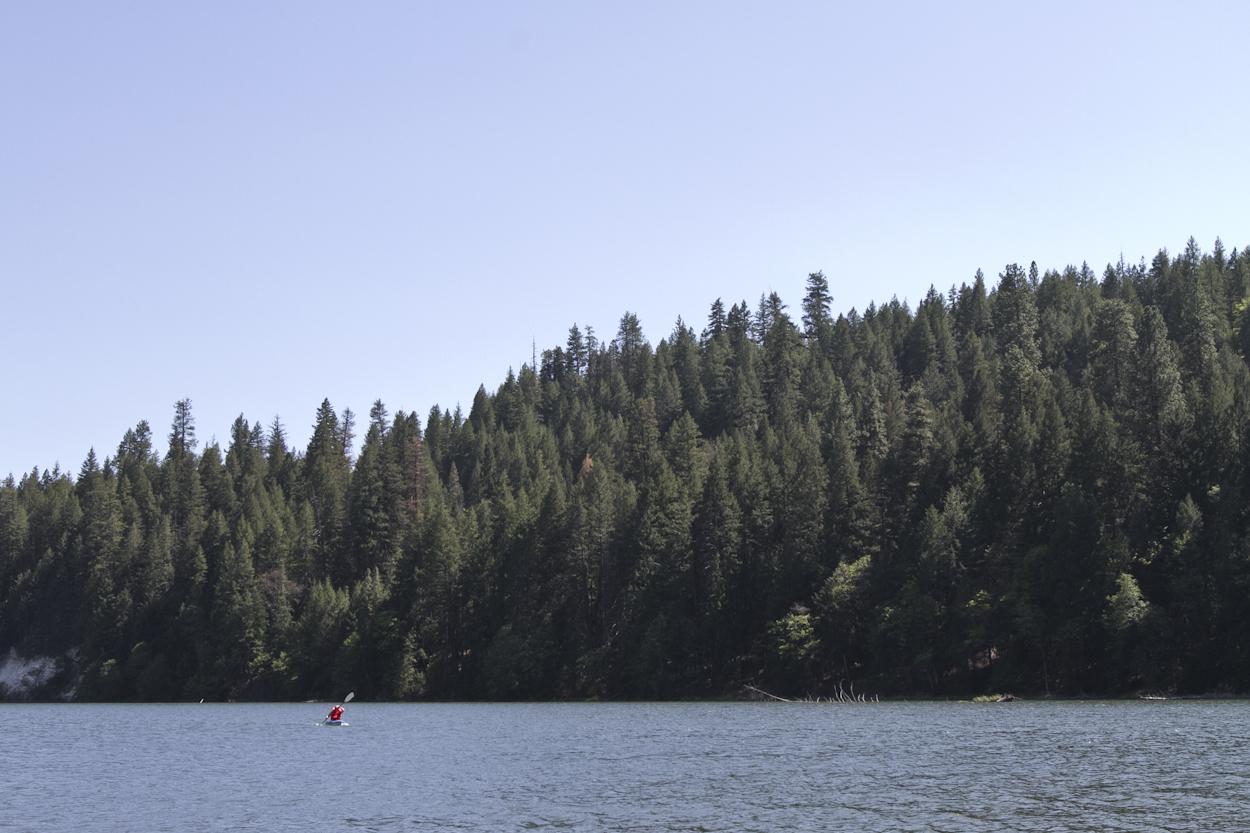Kayaking on Lake Britton. Photo by Clay Duda.