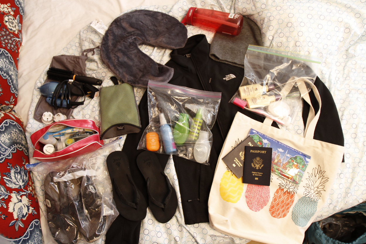 What a woman should pack for a backpacking trip to Europe. Photo by Clay Duda.
