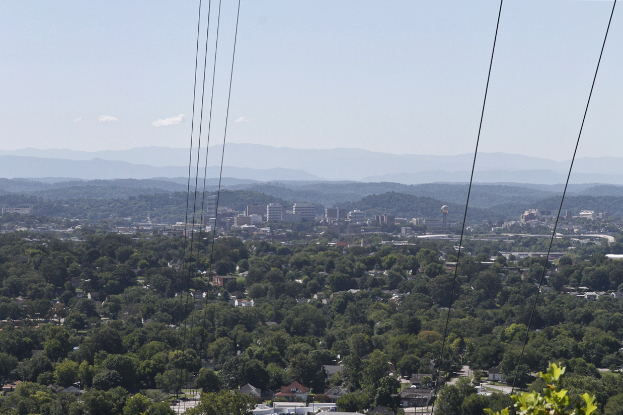 Downtown Knoxville from the overlook at Sharp's Ridge.  Photo by Clay Duda.