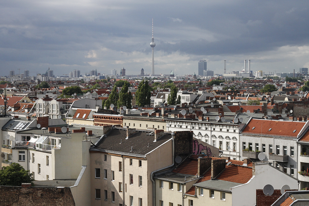 The Berlin skyline seen from Klunkrrkranich. Photo by Clay Duda.