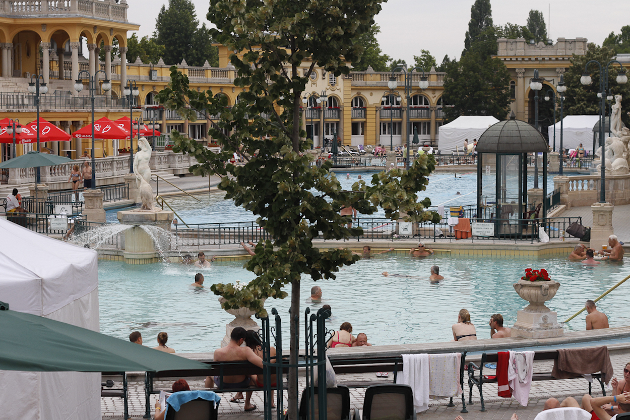 Széchényi, a traditional Hungarian bath house in Budapest. Photo by Clay Duda.
