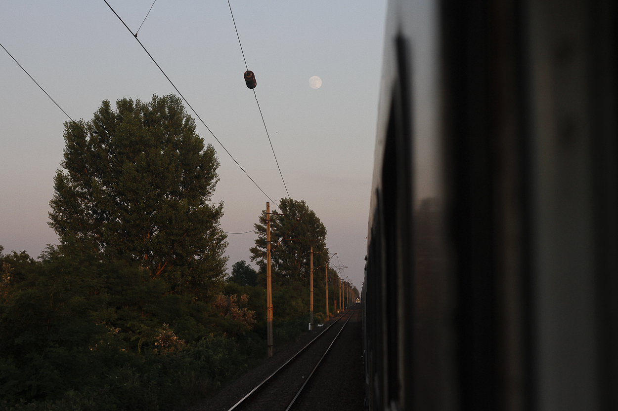The train out of Budapest. Photo by Clay Duda.