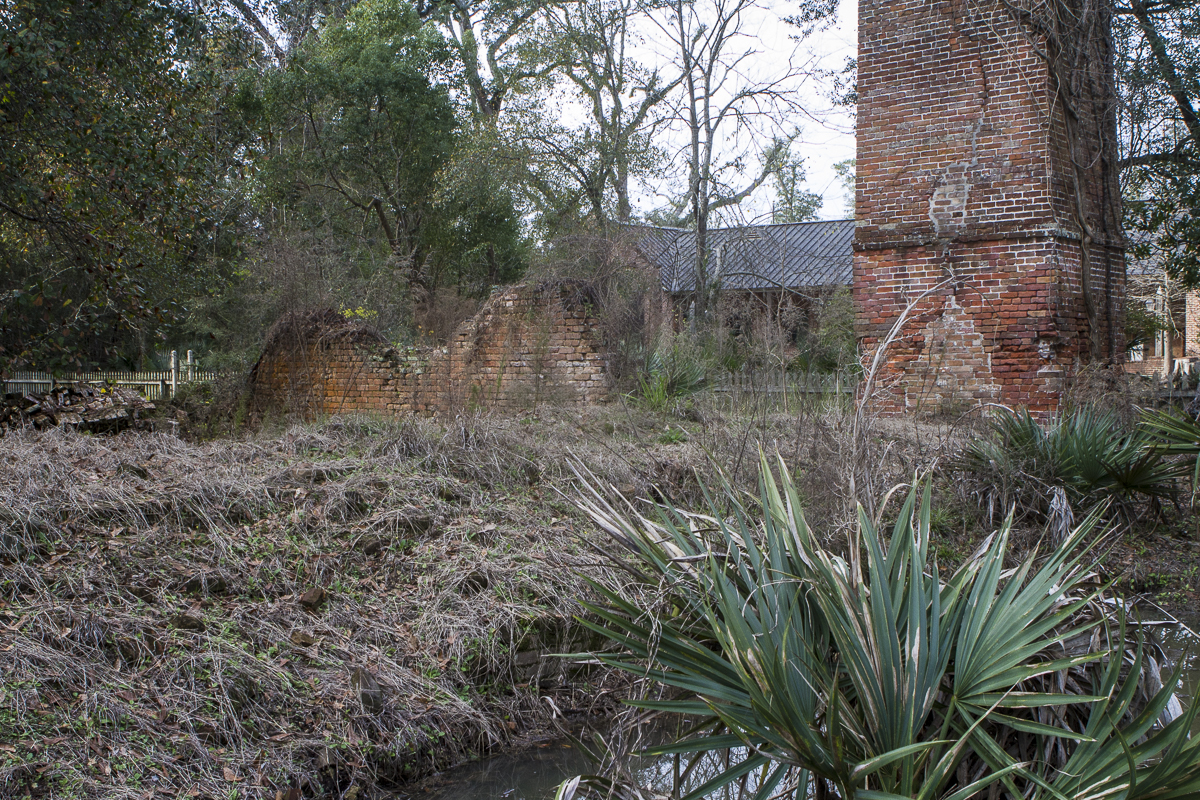 Remains of a sugar mill at Fontainebleau State Park near Mandeville, Louisiana. Photo by Clay Duda.
