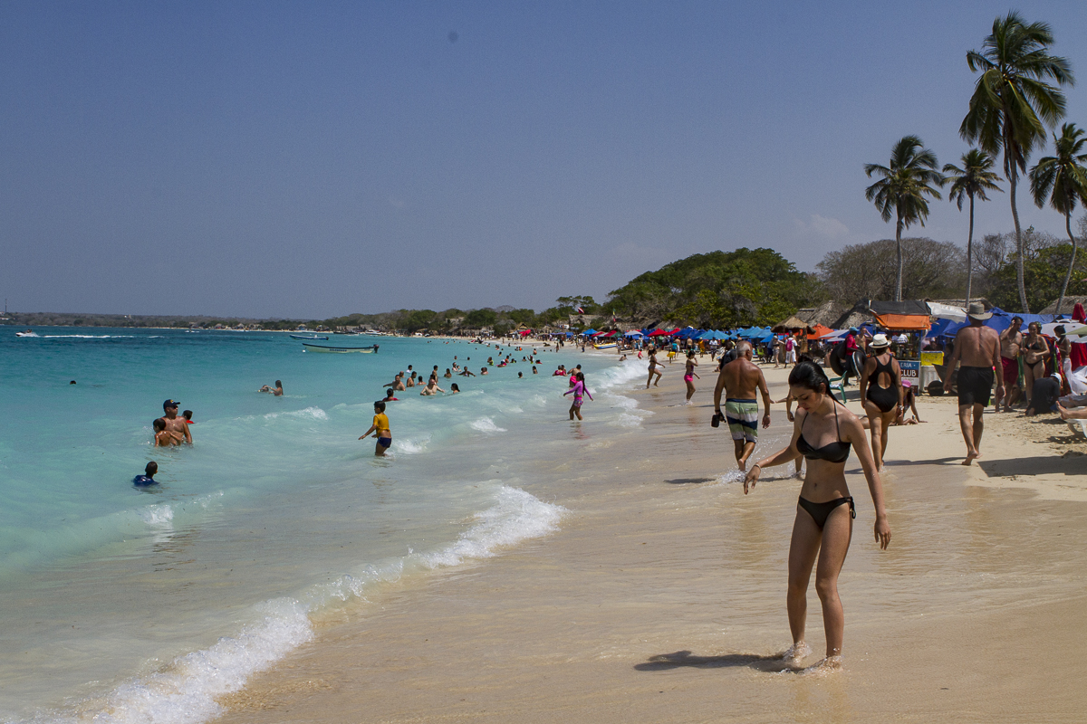 Playa Blanca on Isla Baru in Colombia, about an hour southwest of Cartagena. Photo by Clay Duda.