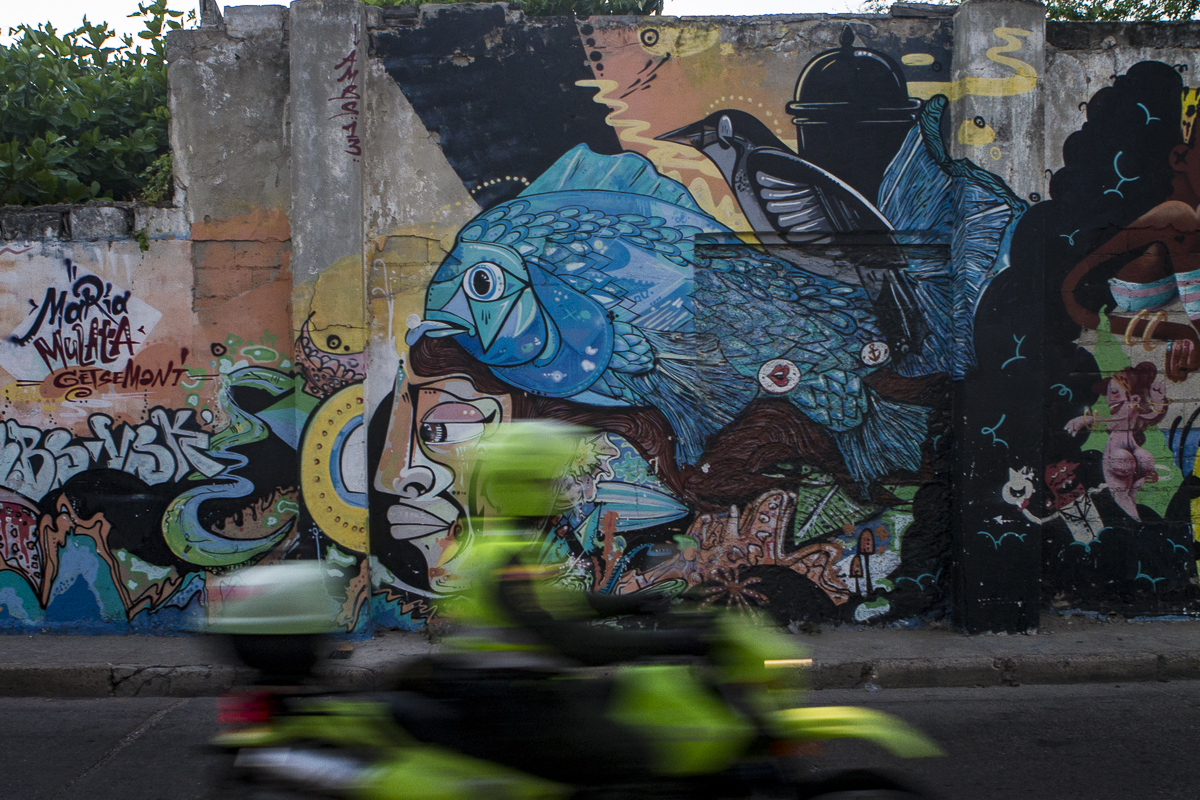 Street art in the Getsemani neighborhood of Cartagena, Colombia. Photo by Clay Duda.
