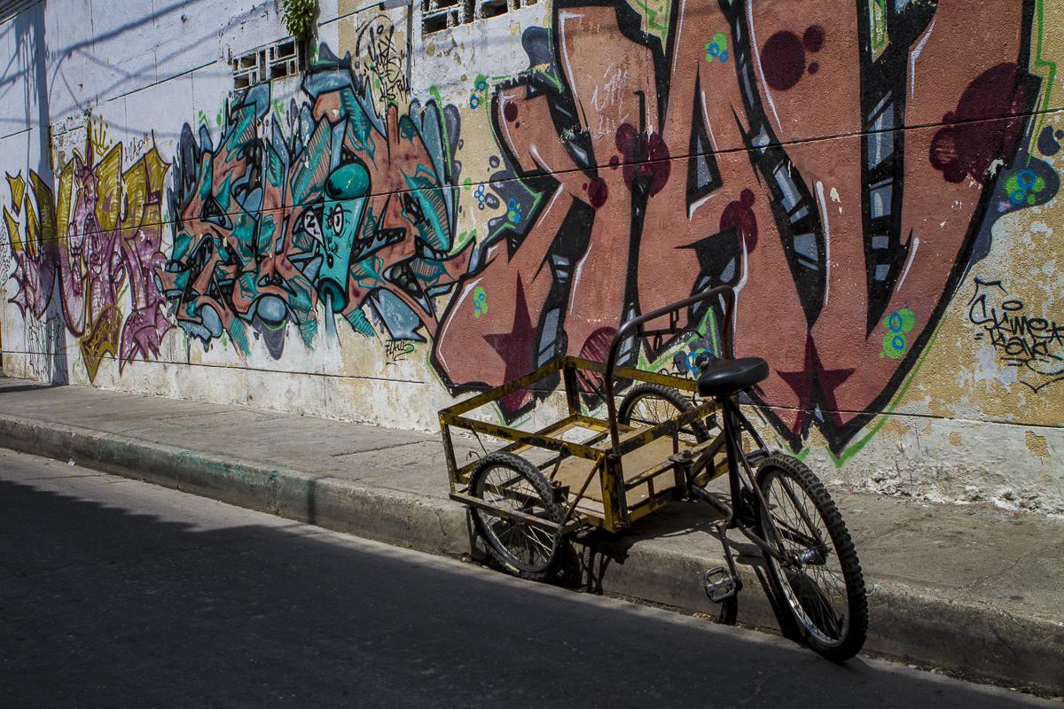 Street art in the Getsemani neighborhood of Cartagena, Colombia. Photo by Clay Duda.