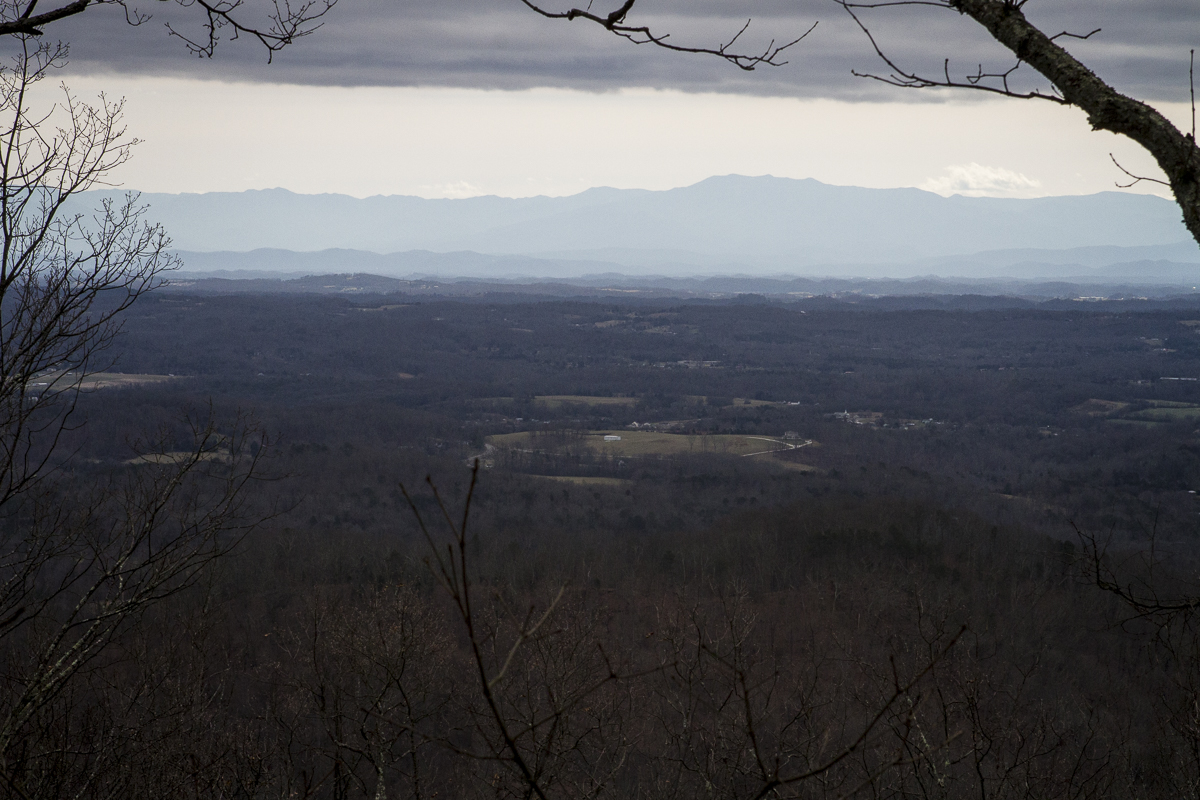 Tennessee's Cumberland Mountains, as seen from the summit of House Mountain in Knox County, Tennessee. Photo by Clay Duda.
