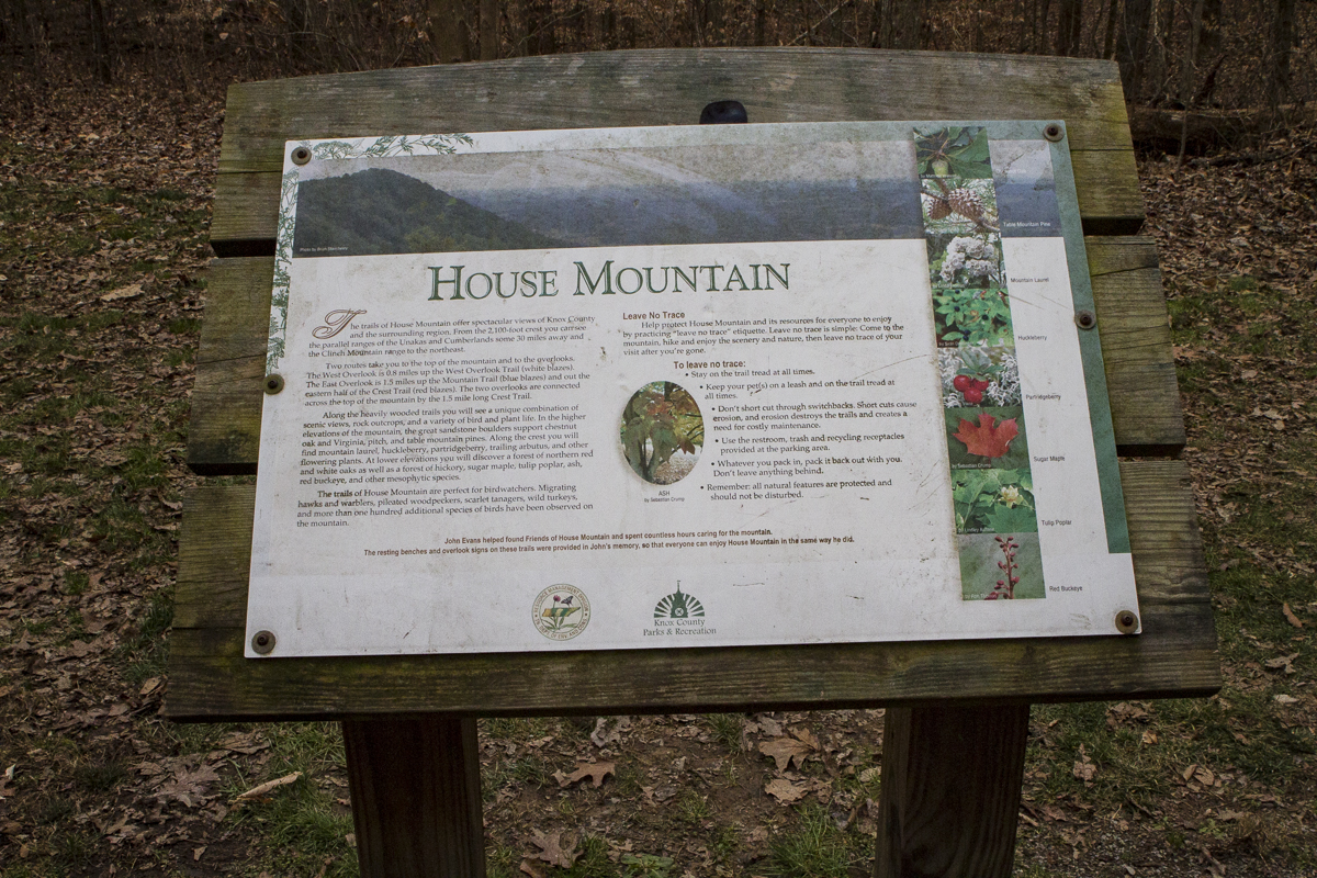 House Mountain Natural Area is the highest peak in Knox County. Tennessee. Photo by Clay Duda.