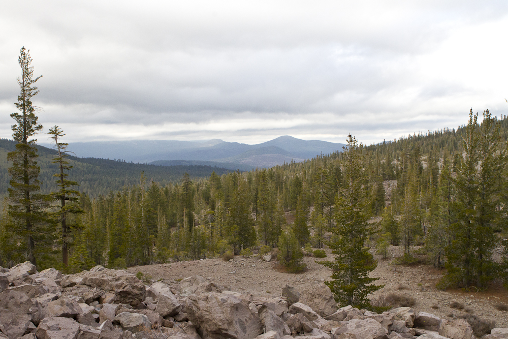 The view from Chaos Crags in Lassen Volcanic National Park, October 2013. Hike Northern California. Photo by Clay Duda.