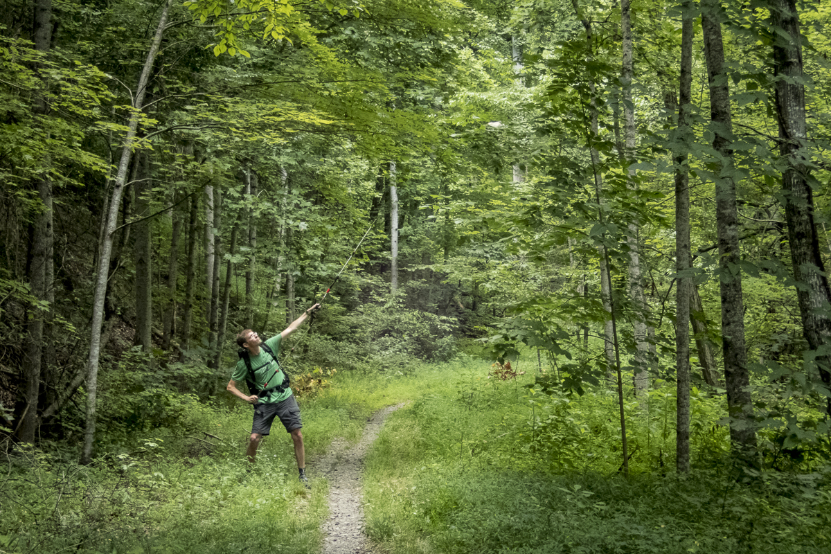 Scott D. on a trek to the Appalachian Trail in the GSMNP. Photo by Clay Duda.