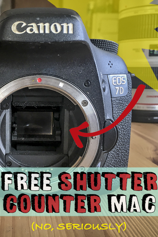 How to find shutter count on Canon DSLR for free — MAC