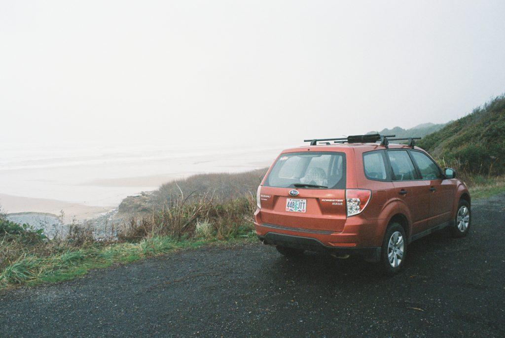 The bluff overlooking Moolack Beach on the Oregon coast. Olympus OM-2 // 28mm f3.5 // Lomography 400