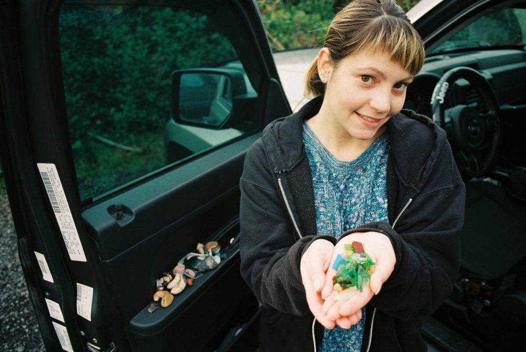 Melissa's haul for the day. Olympus OM-2 // 28mm f3.5 // Lomography 400