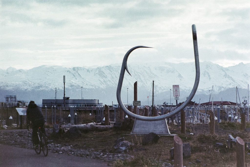 A giant circle hook on the Homer Spit. Photo by Clay Duda.